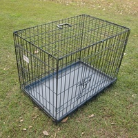 Medium Black Two Door Collapsible Dog Cage