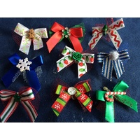 Christmas Deluxe Bows - Pack 50 Printed Bows