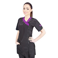 Groom Professional Rimini Grooming Tunic Purple & Black
