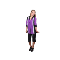 Retro Purple Long Sleeve Smock