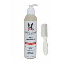 Warren London Paw Sani-Scrub with Brush 8oz (237ml)