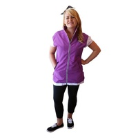 Retro Purple Cap Sleeve Smock