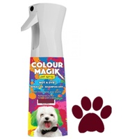 Colour Magik MAROON Temporary Pet Colour